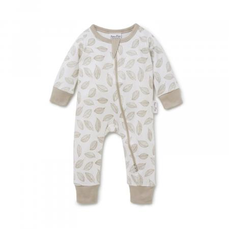 Leaf Drop Zip Romper Organic Cotton