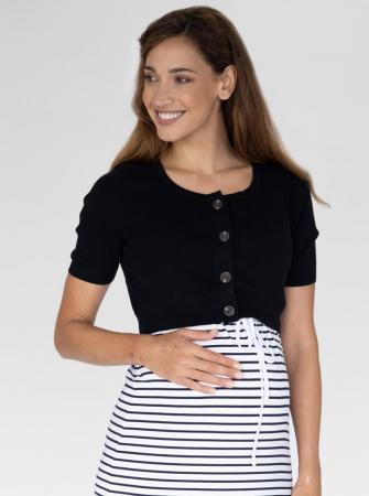Angel MAternity Cotton Crop Button Top