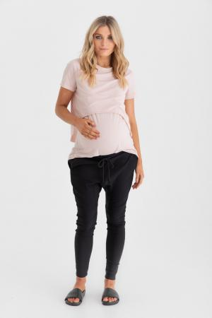 Blush Maternity Casual tee also for breastfeeding