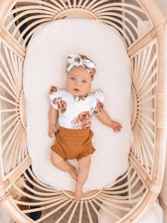 Rosebud bodysuit and chestnut bloomers by snuggle hunny kids